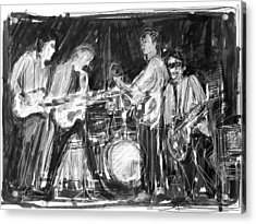 The Early Beatles Acrylic Print by Russell Pierce