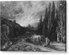 The Early Plowman Acrylic Print by Samuel Palmer
