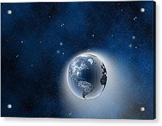 The Earth In Space Acrylic Print