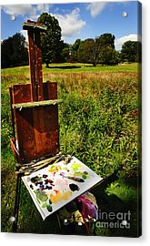 The Easel Acrylic Print by Jim  Calarese