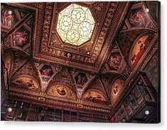 Acrylic Print featuring the photograph The East Room Ceiling by Jessica Jenney