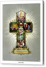 The Easter Cross Acrylic Print by War Is Hell Store