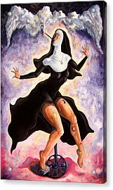The Ecstasy Of Mother Liberation  Acrylic Print by Darwin Leon