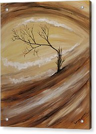 Acrylic Print featuring the painting The Edge by Christie Minalga