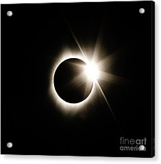 The Edge Of Totality Acrylic Print