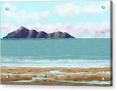 The Edge Acrylic Print by Tony Rodriguez