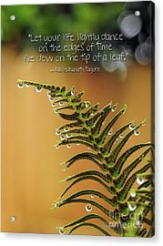 Acrylic Print featuring the photograph The Edges Of Time by Peggy Hughes