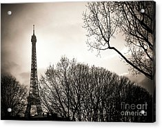 The Eiffel Tower In Backlighting. Paris. France. Europe. Acrylic Print by Bernard Jaubert