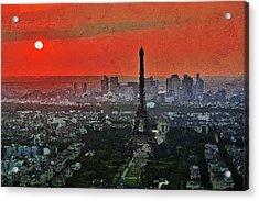 The Eiffel Tower Acrylic Print by PixBreak Art