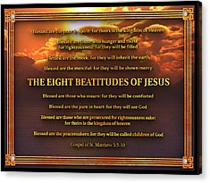 The Eight Beatitudes Of Jesus Acrylic Print
