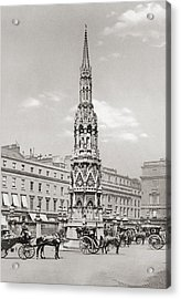 The Eleanor Cross, Charing Cross Acrylic Print by Vintage Design Pics