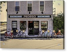 Acrylic Print featuring the photograph The Electric Bike Shop Bristol Ri by Tom Prendergast