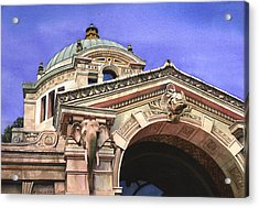 The Elephant House Bronx Zoo Acrylic Print by Marguerite Chadwick-Juner