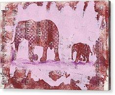 The Elephant March Acrylic Print