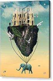 The Elephant  Acrylic Print by Mark Ashkenazi