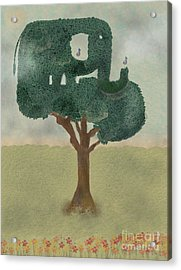 Acrylic Print featuring the painting The Elephant Tree by Bri B