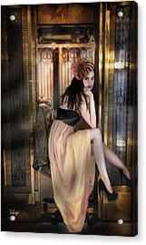 The Elevator Girl Acrylic Print
