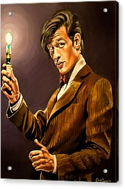 The Eleventh Doctor Acrylic Print by Emily Jones