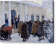 The Emancipation Of Russian Serfs Acrylic Print by Boris Mihajlovic Kustodiev