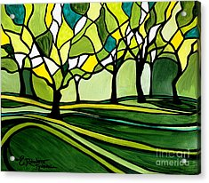 The Emerald Glass Forest Acrylic Print