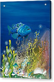 The Emerald Grouper Acrylic Print by Lee Pantas