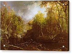 The Emerald Pool Acrylic Print by Albert Bierstadt