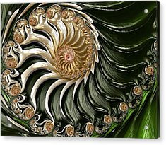 The Emerald Queen's Nautilus Acrylic Print