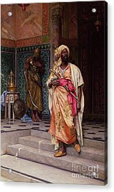 The Emir Acrylic Print by Ludwig Deutsch