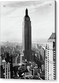 The Empire State Building Under Construction Acrylic Print