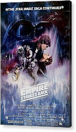 The Empire Strikes Back Acrylic Print by Baltzgar