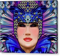 Acrylic Print featuring the photograph The Empress Barbaka #192 by Barbara Tristan