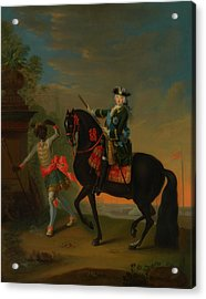 Acrylic Print featuring the painting The Empress Elizabeth Of Russia by Georg Grooth