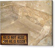 The Empty Tomb Acrylic Print