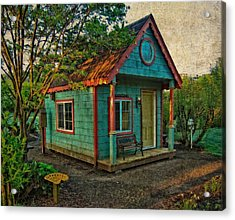 Acrylic Print featuring the photograph The Enchanted Garden Shed by Thom Zehrfeld