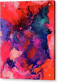 The Energy Of Spring Abstract Xxl Big Painting Acrylic Print by Tiberiu Soos