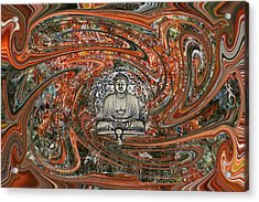 Acrylic Print featuring the digital art The Enlightened One And Nirvana by rd Erickson