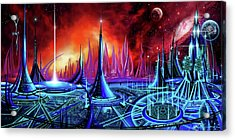 Acrylic Print featuring the painting The Enneanoveum by James Christopher Hill