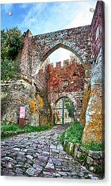 The Entrance To The Monastery Of Escornalbou Acrylic Print