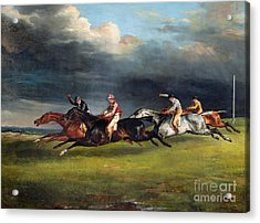 The Epsom Derby Acrylic Print by Theodore Gericault