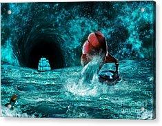 Acrylic Print featuring the digital art The Eternal Ballad Of The Sea by Olga Hamilton