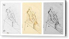 The Eternal Idol - Triptych - Homage Rodin Acrylic Print