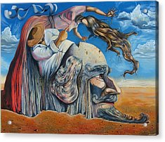 The Eternal Obsession Of Don Quijote Acrylic Print by Darwin Leon