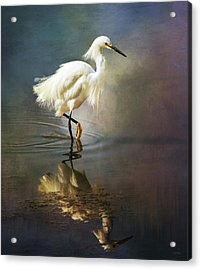 The Ethereal Egret Acrylic Print