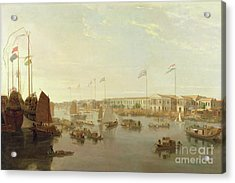 The European Factories - Canton Acrylic Print by William Daniell