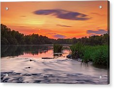 The Eve On The River Acrylic Print