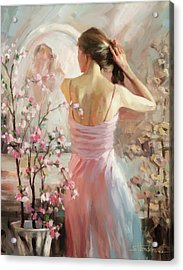 Acrylic Print featuring the painting The Evening Ahead by Steve Henderson