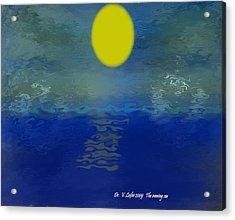 The Evening Sea Acrylic Print by Dr Loifer Vladimir