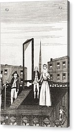 The Execution Of Charlotte Corday Acrylic Print