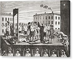 The Execution Of Jacques Pierre Acrylic Print