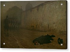 The Execution Of Marshal Ney Acrylic Print